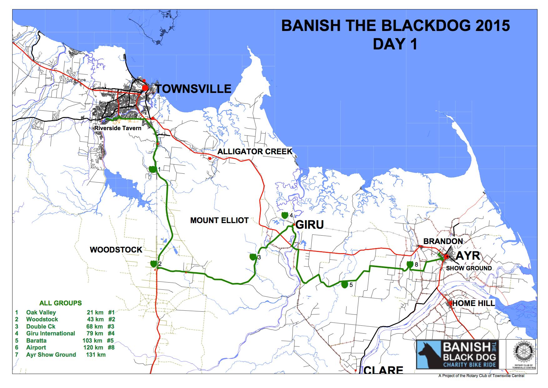 Banish The Black Dog 2015 Map Day 1