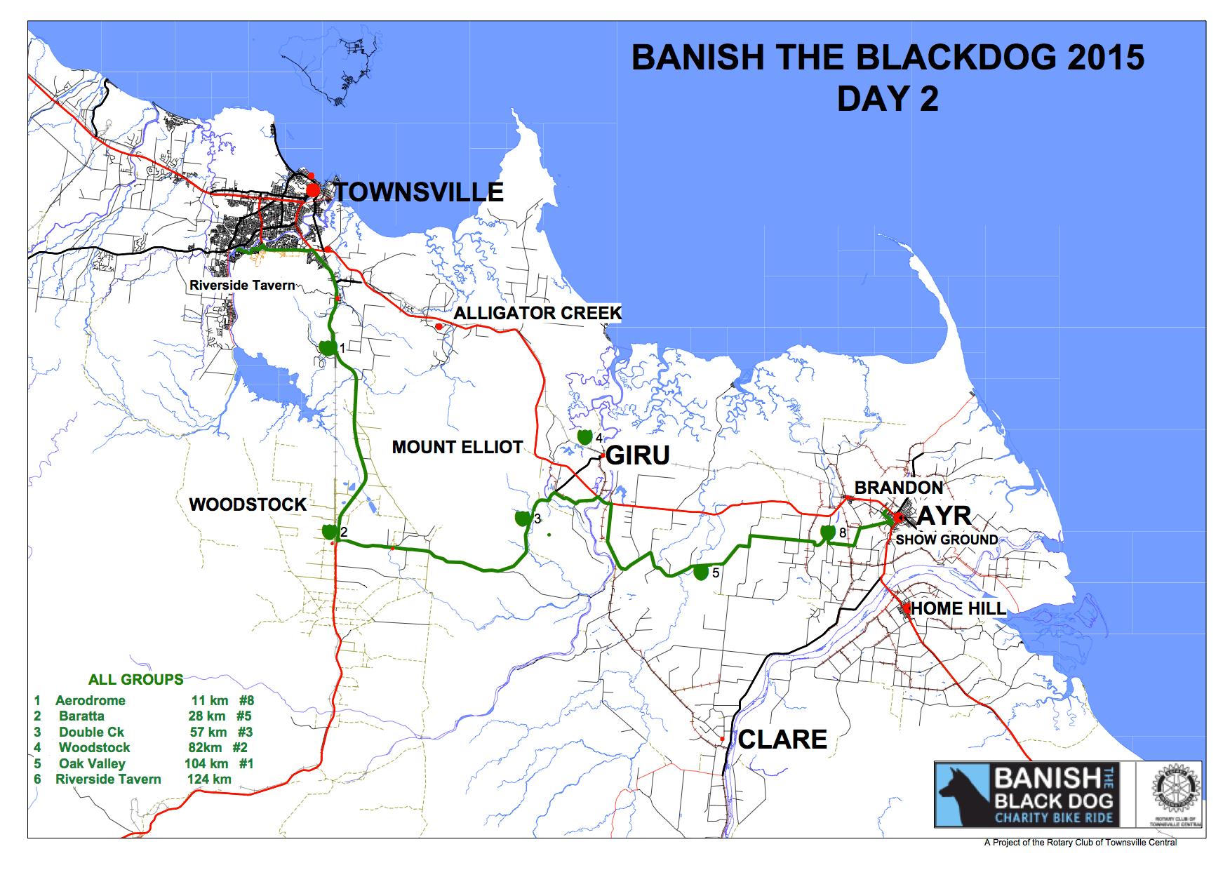 Banish The Black Dog 2015 Map Day 2